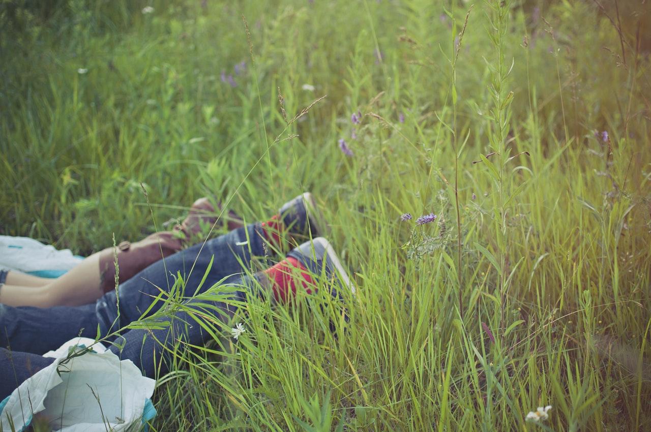Парочка в кустах, трах здоровенным членом